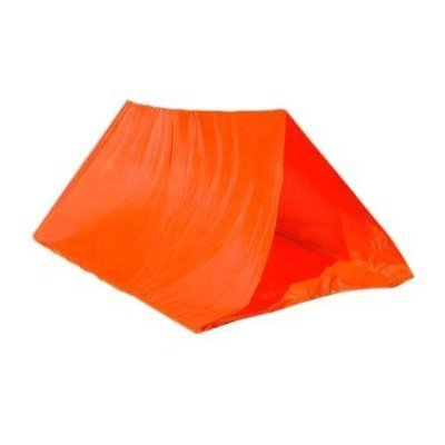 Orange 8' x 6' 11 OZ TUBE TENT - Camping, Backpacking or Backyard Sleep Overs