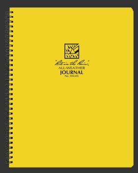 Rite in the Rain 393-MX Journal Maxi-Spiral Notebook 8 1/2-Inch x 11-Inch