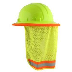 Neck Sun Shield For Hard Hats Hi Visibility Mesh - Hi Viz Lime [Misc.]