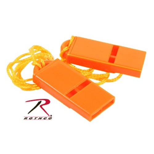 Safety Orange Flat Whistle - 2 Pack [Misc.]