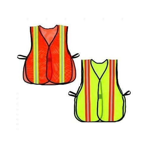 Boston Industrial Safety Vest with Reflective Strips - Lime Green [Misc.]