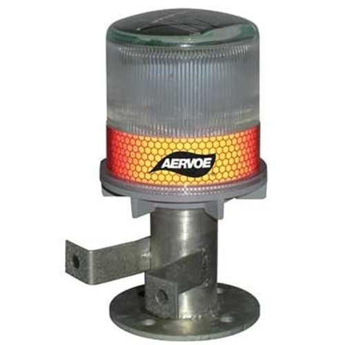 Aervoe 1198 Solar Strobe/Signal Light - Yellow [Misc.]