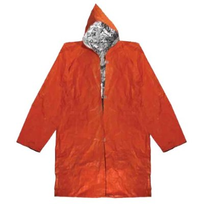 Vas Insulated Reusable Blaze Orange Poncho Misc