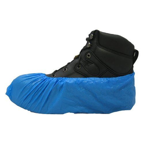 PE Disposable Plastic Shoe Covers BLUE 1,000 Ct. Water Resistant [Misc.]