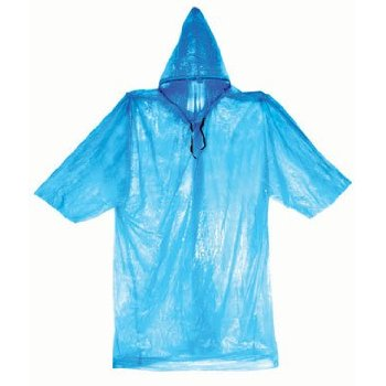 50 BLUE ADULT EMERGENCY RAIN WEATHER PONCHOS WITH HOOD, SLEEVES & DRAWSTRINGS...