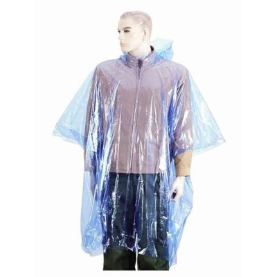 LEBERNA BRAND FROM FN INC Disposable Poncho One Size Fit All with Hood 20 Per...