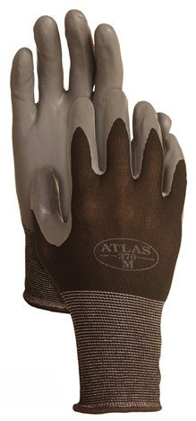4 Pack Atlas Glove 370BBK Atlas Nitrile Tough Gloves - Large [Misc.]