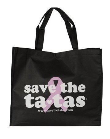 save the tatas Reusable Grocery Tote