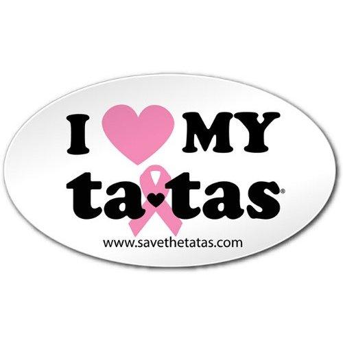 I Love My ta-tas Bumper Magnet - White [Misc.]