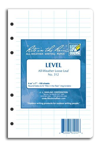 Rite in the Rain Loose Leaf Paper Level No. 312 [Office Product]