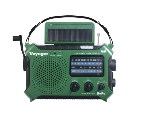 Kaito Electronics, Inc. Portable Dynamo & Solar-Powered Radio and Cell Phone ...
