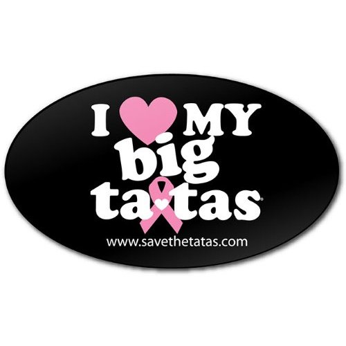 I Love My Big ta-tas Bumper Magnet - Black [Misc.]