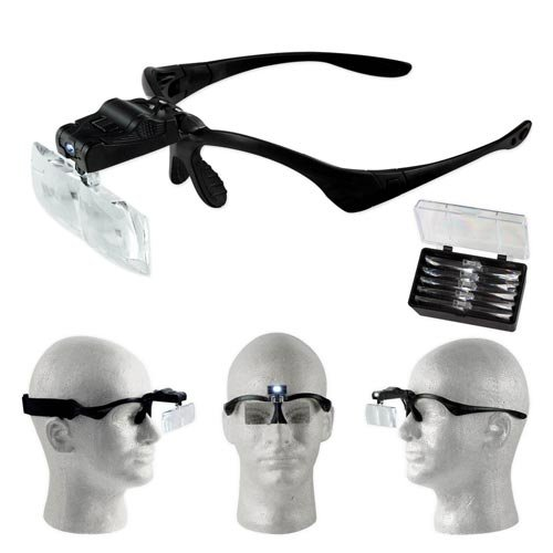 SE Illuminated Multi-Power Head Magnifier [Office Product]