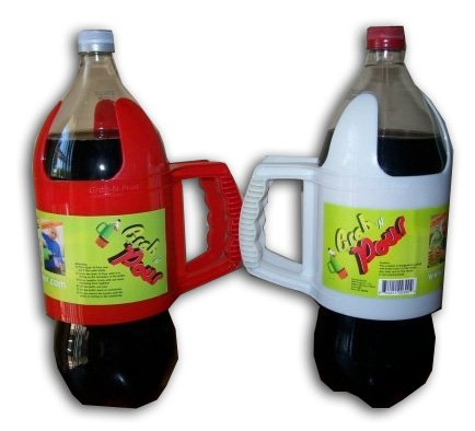 Grab 'N Pour 2 Litter Soda Bottle - Assorted Color