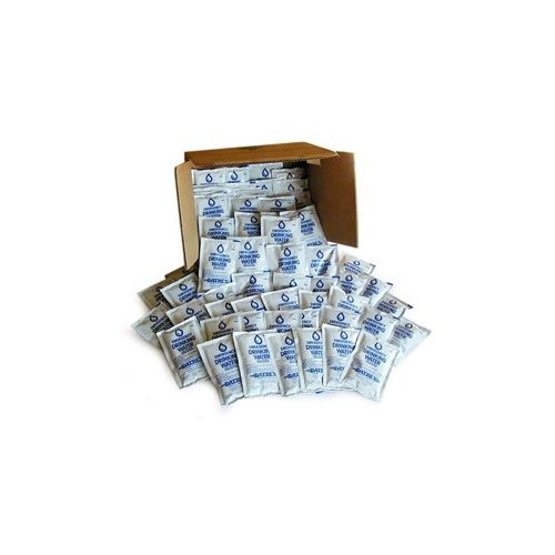 Datrex Emergency Water Pouches Case of 64 for Survival Kits, Disaster Supplie...