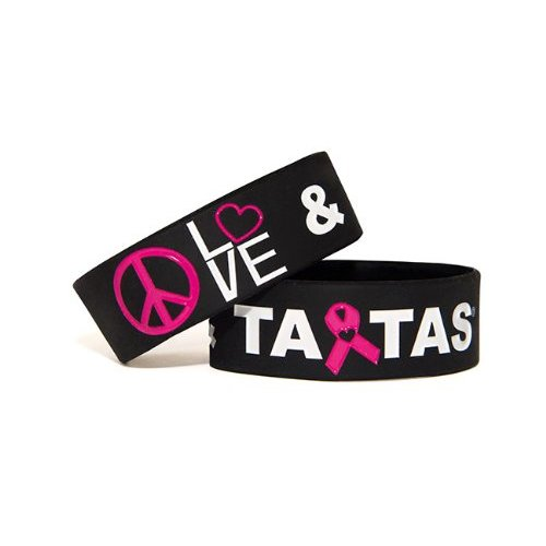 Peace Love & ta-tas Bracelet - Black [Misc.]