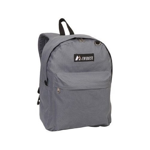 Everest 15'' Backpack for School Outdoor 1045 K (Gray) [Misc.]