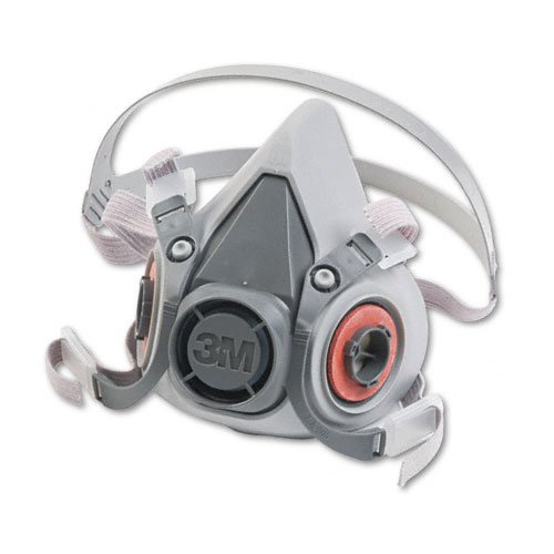 3M : Half Facepiece Respirator 6000 Series, Reusable, Medium -:- Sold as 2 Pa...