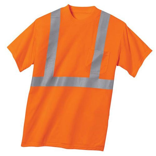 Joe's USA Safety Shirts - Mens X-Large ANSI Class 2 Orange Safety T-Shirt.