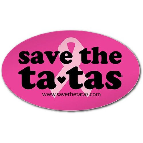 save the ta-tas Bumper Magnet - Fuchsia [Misc.]