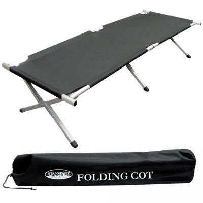 Stansport Folding Cot Camp Bed Army Cot Military Cot (with Carry Bag)