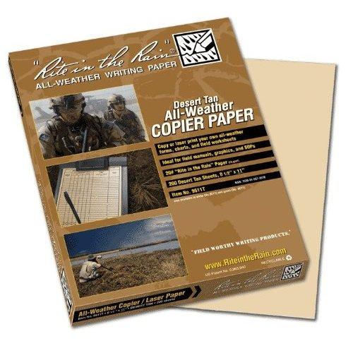Rite In The Rain Copier Paper - Tan - 8.5 X 11 - 200 Sh #9511T [Misc.]