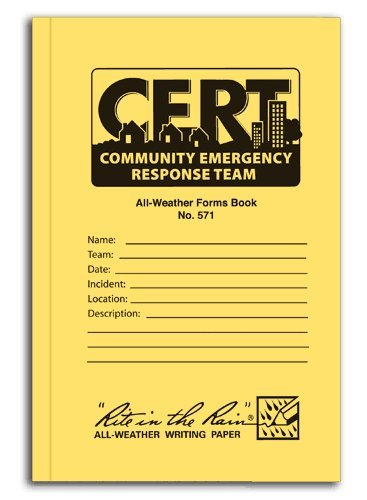 Rite in the Rain All-weather Community Emergency Response Team Forms Book