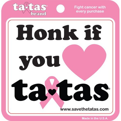 Honk If You Love ta-tas - Bumper Sticker - White [Misc.]