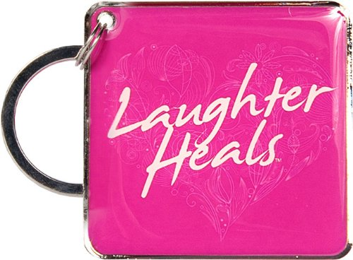 Laughter Heals Keychain - Fuchsia [Office Product]