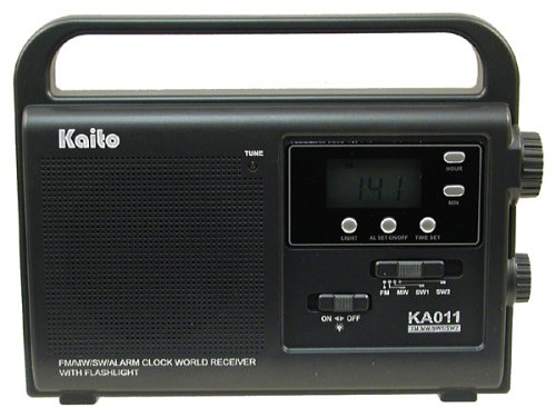 Kaito Emergency Radio with LED Flashlight, KA011