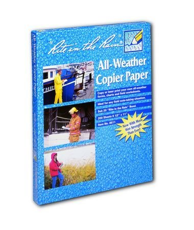 Rite In The Rain Copier Paper - White - 8.5 X 11 - 200 Sh #8511 [Office Product]