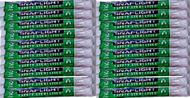 Pack of 20 Green Snap-On Cyalume Light Sticks for Power Outages, lightsticks,...