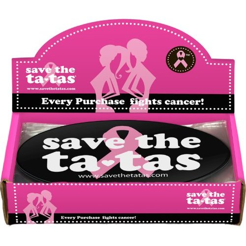 Save the ta-tas Bumper Magnet - Black - 48 pack [Misc.]