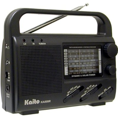 Kaito KA009R 4-Way Powered Emergency Crank Radio with Shortwave Antenna T1.