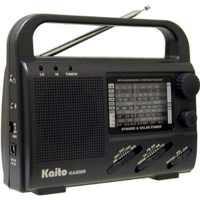 Kaito KA009R 4-Way Powered Emergency Crank Radio with Shortwave Antenna T1.