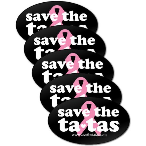 save the ta-tas Bumper Magnet - Black - 5 Pack [Misc.]