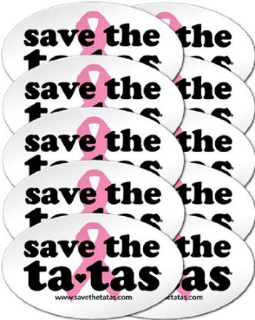 save the ta-tas Bumper Magnet - White - 10 Pack [Office Product]