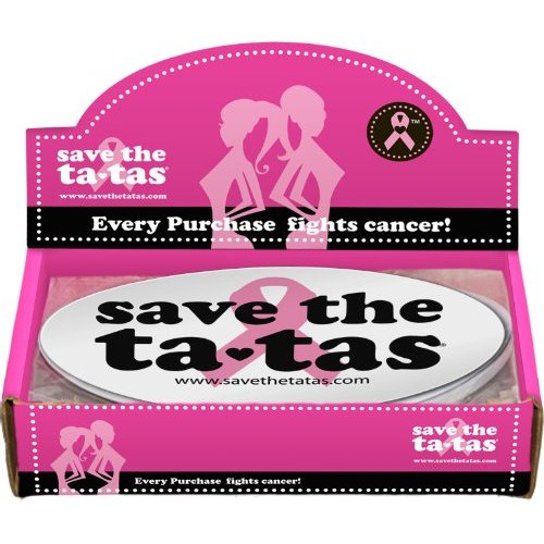 Save the ta-tas Bumper Magnet - White - 48 pack [Misc.]