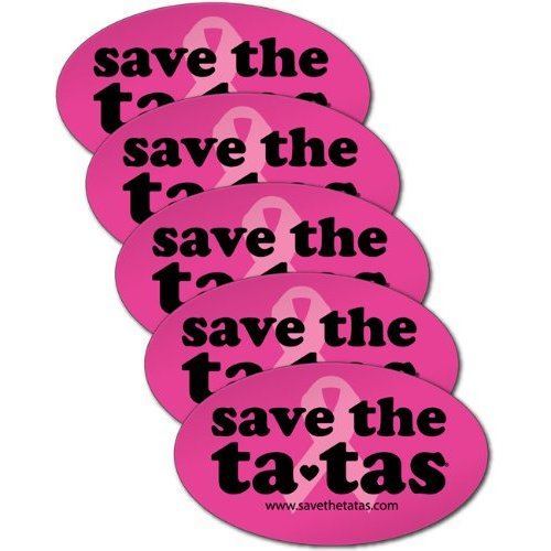 save the ta-tas Bumper Magnet - Fuchsia - 5 Pack [Misc.]