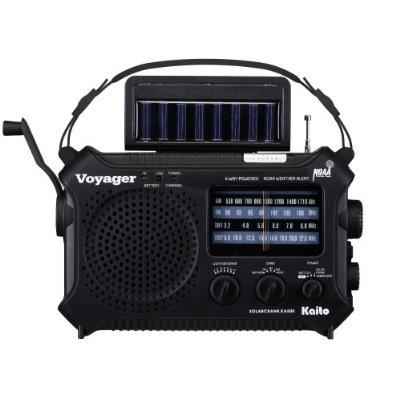 Kaito Electronics Inc. KA500BLK Voyager Solar/Dynamo Emergency Radio - Black