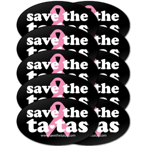 save the ta-tas Bumper Magnet - Black - 10 Pack [Misc.]