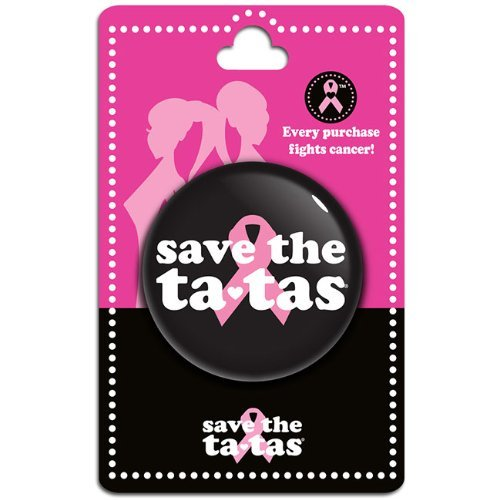save the ta-tas Button - Black [Misc.]