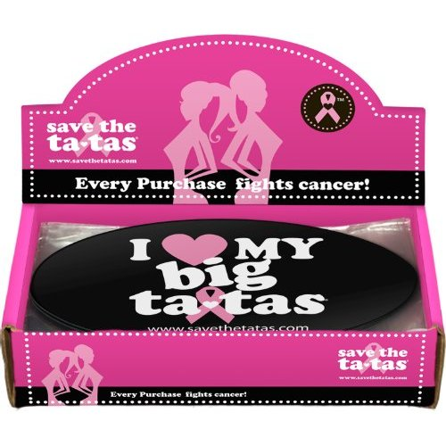 I Love My Big ta-tas Bumper Magnet - Black - 48 pack [Misc.]