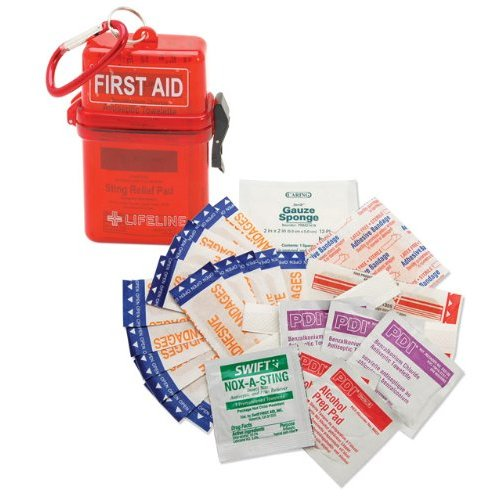 Lifeline 29-Piece Waterproof First Aid Kit (Red) [Sports]