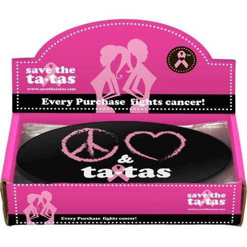 Peace, Love & ta-tas Bumper Magnet - Black - 48 pack [Misc.]