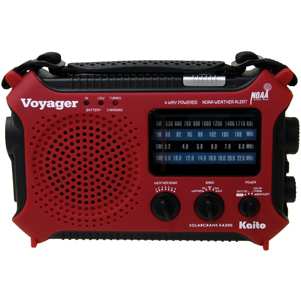 Kaito Electronics Inc. KA500RED Voyager Emergency Radio- Red [Electronics]