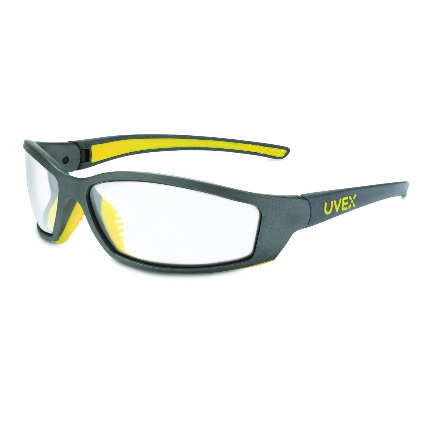 Uvex SX0400 SolarPro Safety Eyewear Clear Supra-Dura Hardcoat Lens, Gray and ...