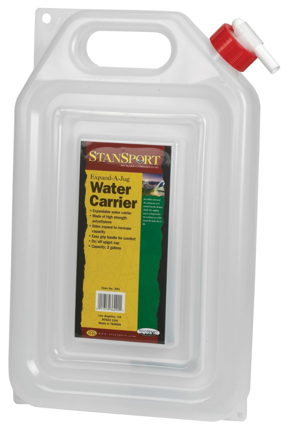 Stansport Outdoor 291 2-Gallon Expand-A-Jug Water Carrier [8mm] [Lawn & Patio]