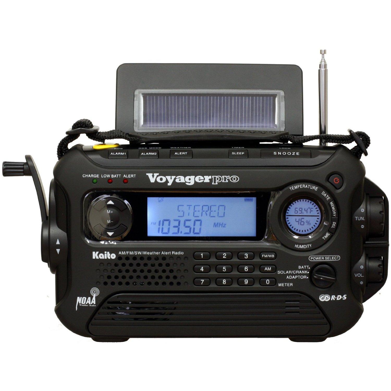 Kaito Voyager Pro KA600 Digital Solar/Dynamo AM/FM/LW/SW & NOAA Weather Emerg...