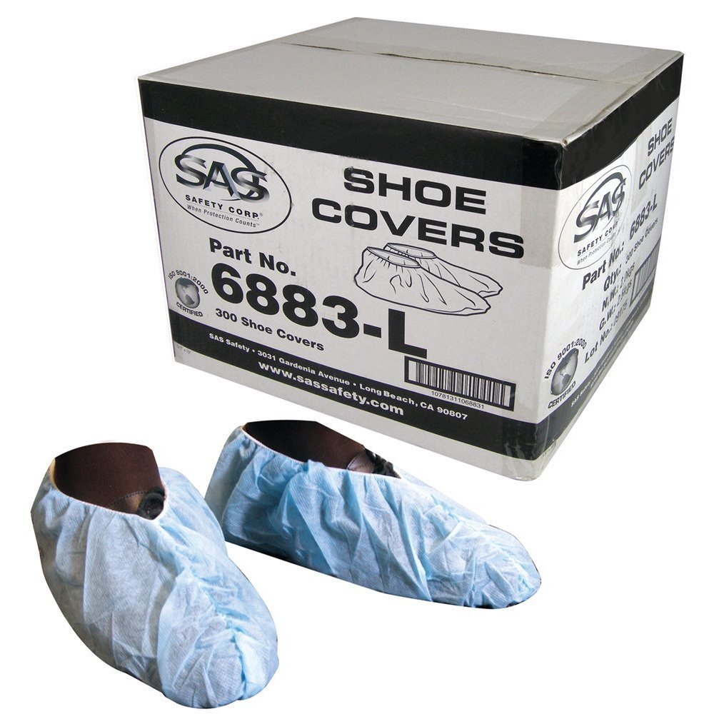 SAS Safety 6883-L Polypropylene shoe covers, Box of 150 pairs